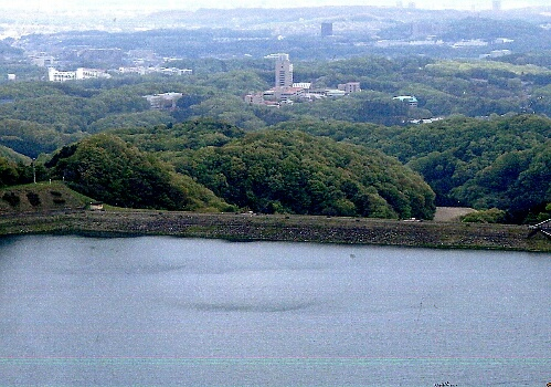Shiroyama Lake and Tama Campus wewe seen from Mt. Kushato.